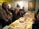 i partecipanti alla cena dell'inaugurazione della mostra